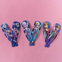 Wholesale IN stock designs Frozen elsa anna olaf baby hairpin clips baby girls hairbands hair claws baby frozen hair ornament hairclip hot