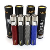 Wholesale 4 colors CF SUB OHM battery clone mah Carbon Fibre Battery Fit for E Cigarett Aspire Nautilus Atlantis Atomizer DHL free ship