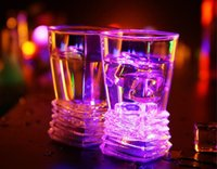beer trading - Foreign trade Christmas gift luminous cup necessary water induction luminous cup bar night LED beer stein