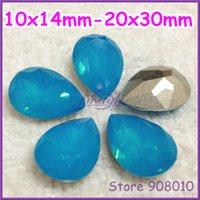aquamarine opal jewelry - Aquamarine OPAL Color Teardrop Resin Fancy Stone Pearshape For Jewelry Making x14mm x18mm x25mm x30mm