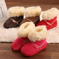 Wholesale New Arrival Kids Children s Faux fur Snow Boots Candy colored Snow Boots Thick Cotton Anti slip Baby Shoes SV011141
