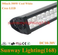 Wholesale 52 quot W LED Light Bar Off Road SUV ATV WD x4 Spot Flood Cree Car Truck ATVs SUV Boat LED Work Lights DC12v V