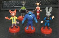 Wholesale Zootopia Animals Cartoon Figures Action Dolls Plastic Children Hand Figure Doll Toys Anime Movies Gifts SK516