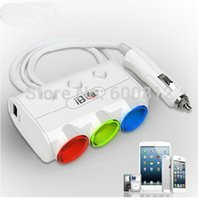 automobile power converter - USB automobile charger switch doesthis three cigarette lighter dual usb car charger car cigarette lighter power converter