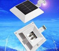 al por mayor la nueva led solar-2015 NUEVA energía solar lámpara de pared LED LED LEDs luz de la pared la luz solar al aire libre impermeable del reflector de luz 4 yarda del jardín
