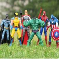 Wholesale The Avengers Captain America Spiderman Thor Batman Hulk Wolverine Action Figures Toy PVC Figure cm A