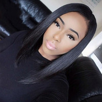 Wholesale 8A human hair full lace wig glueless lace front human hair wigs silky straight brazilian virgin lace wig black women baby hair
