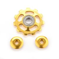 Wholesale 11 tooth cycle accessories t aluminum alloy cycling mountain bicycle mtb bike rear gear mech jockey derailleur wheel pulley