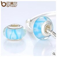 Wholesale 20 pieces hallmarked Silver Core Murano hand made Glass Beads For European Charm Bracelet fgwet gfdsg gf TOP1001