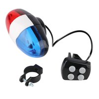 Wholesale 1pc Bike Bicycle Cycling Sounds LED Car Siren Electric Light Horn Bell Newest