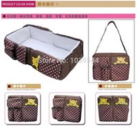Wholesale Portable baby bed Folding travelling bed Novelty high quality Baby Folding Bed baby Cradles Crib infant safety mum bag A3