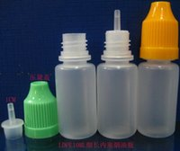Wholesale ML childproof cap drop bottle with long tip used for E cig liquid