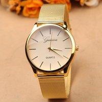 El reloj lleno del acero inoxidable del reloj de oro mira la nueva calidad G-8072 del reloj del cuarzo de Ginebra de la marca de fábrica nueva que envía libremente