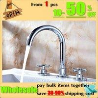 Wholesale bathroom bathtub faucet split holes basin wash basin pc set faucet