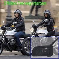 motorcycle alarm - V6 Bluetooth Intercom for Motorcycle Bluetooth Helmet Headset Intercomunicador Moto Riders BT Interphone walkie talkie helmet
