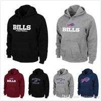 authentic bills - 2015 New Fleece Hoodies Bills Authentic font Pullover Hoodie men Sport Sweatshirt Long Sleeve