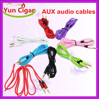 Wholesale 3 mm AUX audio cables male to male Stereo Car Extension audio Cable for MP3 for phone colorful