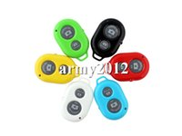 Wholesale Wireless Bluetooth Remote Control Self Timer Camera Shutter For iPhone Samsung HTC Android Phones DHL