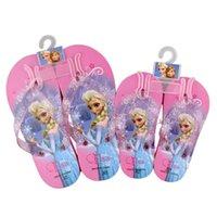 Wholesale Fashion Beach Shoes ELSA ANNA Flip Flops Casual Slipper Shoe New Children Cartoon Household Shoes colors