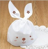 Cheap Free shipping rabbit ear lunch bags gift packaging bag lovely rabbit bags decoration birthday wedding party candy packing favors