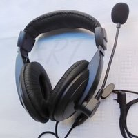 Wholesale Hot SaleRadio Heavy Duty Headset With Double Earmuff Headset In Helmet PTT VOX Earpiece For Kenwood BAOFENG ICOM HYT TYT KIRIsunWouxun Radio