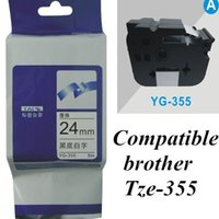 printer ribbon - 24mm white on black TZe brother Label Tape Compatible for Brother P Touch brother printer ribbons