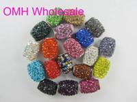 Wholesale OMH g x10mm mix DIY Jewelry accessories AAA Crystal charm hole European beads for Shambhala bracelet PJ312