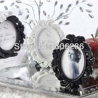 baroque white frames - Wedding Table Decorations Baroque style oval black or white Photo Frame Place card Holder Party Favors