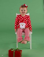 baby fashion clothes - Santa Suit Girl Christmas Suits Dot Long Sleeve T Shirt Stripes Pants Sets Baby New Year Clothes Kids Sets Children s Fashion Outfits