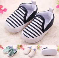 Wholesale New Baby First Walker stripe shoes baby toddler baby non slip shoes