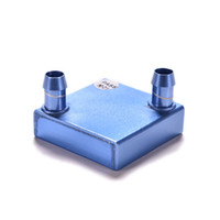 Cheap Wholesale-1PC 40x40x12mm Aluminum PC Laptop CPU Radiator Water Cooling Block for Liquid Water Cooler Heat Sink System