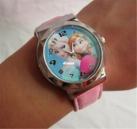 Wholesale New Arrive Frozen watch kids fashion quartz cartoon Elissa Jelly Candy led with box Cute Lovely Girl woman lady