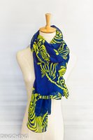 Wholesale The spring of the new fashion women s Scarf zebra pattern Shawl Chiffon tippet Polyester cm cm g DCWJ15S017