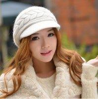 Wholesale Korean Version Spring and Winter Gorro Cap Lady s Fashion Drape Delicate Women Hats Solid Color for woman caps
