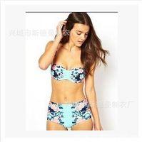 bathing suit models - Hot Sale Swimwear Women Padded Bandeau Bikini Set New Swimsuit Lady Bathing suit Original single explosion models