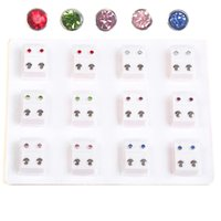 ear piercing studs - 12pairs Piercing Tool Kit Ear Piercing Gun Earing For Piercing Gun Medical Steel Ear Stud Tools
