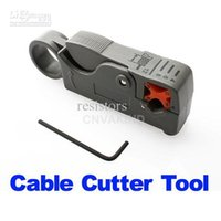 Wholesale Rotary Coax Coaxial Cable Cutter Tool RG58 RG6 Stripper Lots200