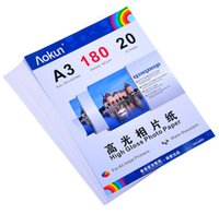 Expreso gratuito A3 (420 * 297 mm) 180g 20 hojas de papel fotográfico de alto brillo impermeable Papel fotográfico Papel tinta, Por una variedad de impresoras de inyección de tinta