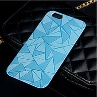 plastic cube - 50pcs for iphone6 Water Cube pattern Hard PC Plastic Metal Chrome electroplated Case Cover for iphone plus inch mobile phone bag