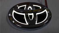 auto lamps toyota corolla - Toyota Rear Car Badge D Auto Decoration LED Car Sticker Light Emblem Colors Logo Lamp Can For RAV4 REIZ PRADO COROLLA CROWN YARIS DC V