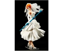 anime wedding dress - 16cm Anime One Piece SCultures Nami Wedding Dress Ver Colosseum Vol PVC Action Figure Collection Model Toy