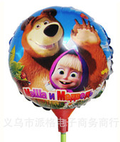 bear pa - masha and bear cm Inflatable Aluminum Foil Balloons for Wedding Birthday Party decoration mixed