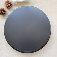 baking stones - quot Carbon Steel Nonstick Round Deep Pizza Pan Stone Pizza Baking Tray Kitchen Bakeware Tray Pizza Tools