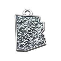 arizona metal - New fashion New Arizona map of The United States charm jewelry making DIY metal charms