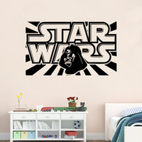 Cheap 2016 New Fashion High Quality QT004 STAR WARS WALL ART STICKER New Design STAR WARS WALL Decor Home Decor Art Mural