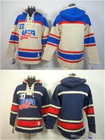 blank hoodie - Team USA Blank No Name No Number Navy Blue Cream Olympic Sochi Nhl Ice Hockey Old Time Hoodies Jerseys