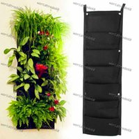 Wholesale Hot Sale Pocket NEW Felt PC Outdoor Vertical Gardening Flower Pots and Planter Hanging Pots Planter On wall Green Field