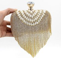 Wholesale Clutch bags Evening bags Handbags Bridesmaid clutches Evening purses handbags Ceramic beads Diamond Tassel Evening Bags Wedding clutch bag