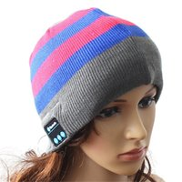 Wholesale 2016 hot New Style Bluetooth Music Hat Soft Keep Warm Cap Stereo Headphone Wireless Microphone Multi Function Voice Wireless Caps free DHL