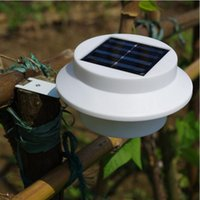 Wholesale 10pcs High Quality Manufacturer Outdoor Solar Powered LED Cool White Warm White Light Fence Gutter Garden Yard Roof Wall Lamp